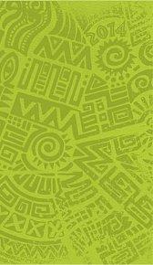 Diář 2014 - Zelená s celoplošnou ražbou bez vnitřních ilustrací - týdenní kapesní
