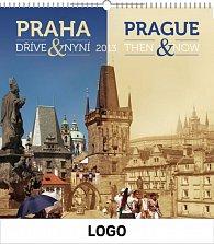 Kalendář 2013 - Praha dříve a nyní, 30 x 60 cm