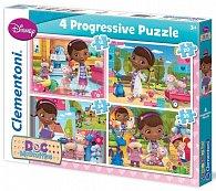 Puzzle Progressive 4v1 Doktorka Plyšáková