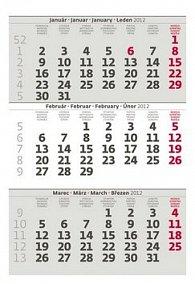 Kalendář stolní 2012 - Mini tříměsíční