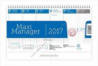 Kalendář stolní 2017 - Maximanager modrý