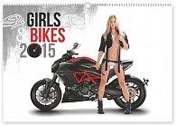 Kalendář 2015 - Girls & Bikes - nástěnný s prodlouženými zády