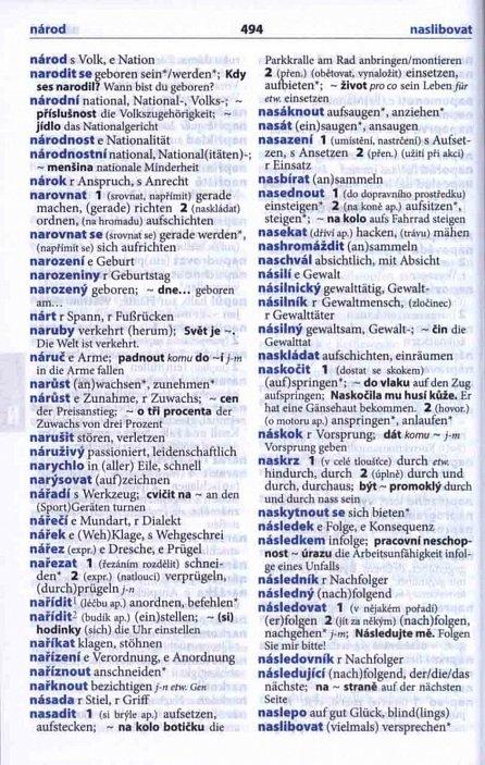 Náhled Německo-český, česko-německý šikovný slovník...… nejen do školy