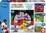 Puzzle Mickey Mouse 4 v 1 12,16, 20, 25 dílků.