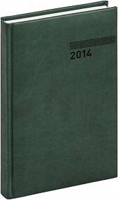 Diář 2014 - Tucson-Vivella - Denní B6, tmavě zelená (ČES, SLO, ANG, NĚM)