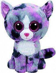 Plyš očka střední růžovo-šedá kočka