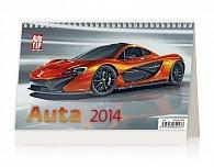 Kalendář 2014 - Auta - stolní 226x139