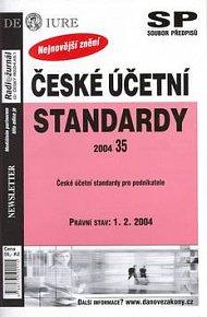 České účetní standardy právní stav k 1.2.2004