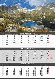 Kalendář nástěnný 2016 - Hory - 3 měsíční