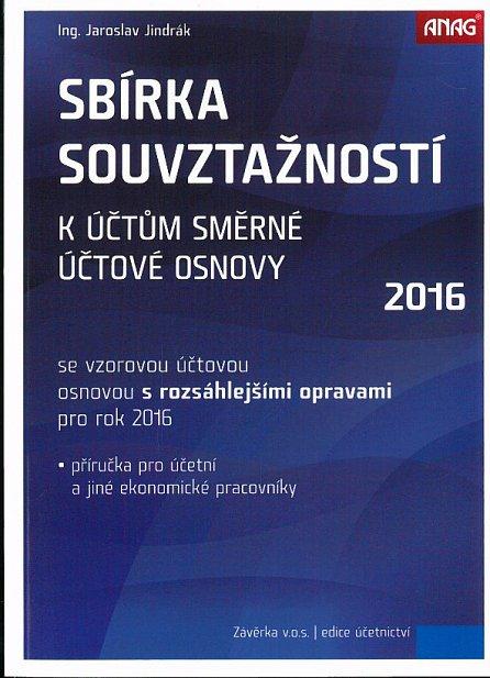 Náhled Sbírka souvztažností k účtům 2016