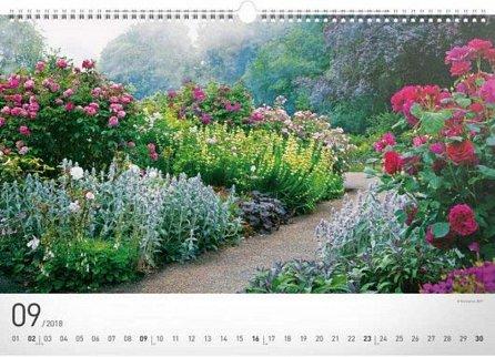 Náhled Kalendář nástěnný 2018 - Zahrady
