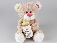Medvěd sedící s lahvičkou 30 cm