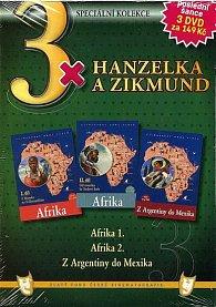 3x Hanzelka a Zikmund - Afrika I. / Afrika II. / Z Argentiny do Mexika - DVD
