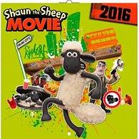 Kalendář nástěnný 2016 - Ovečka Shaun ve filmu, poznámkový  30 x 30 cm