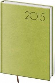 Diář 2015 - PRINT POP denní B6 - zelená