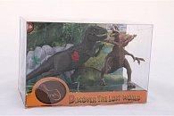 Dinosauři 2 ks se skálou