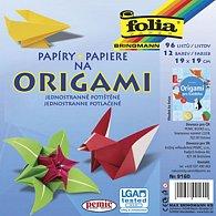 Papíry na origami: 96 listů ve 12 barvách jednostranně potištěných