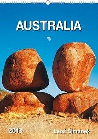 Kalendář stolní  2012 - Austrálie Leoš Šimánek, 33 x 12,5 cm