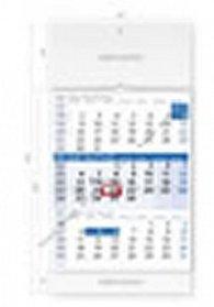 Kalendář nástěnný 2016 - Tříměsíční modrý