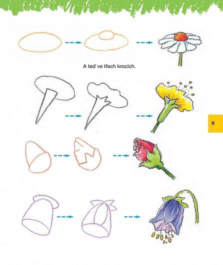 Náhled Nauč se kreslit 1 - Příručka, která tě krok za krokem naučí kreslit vše, co vidíš kolem sebe