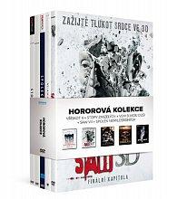5x DVD Hororová kolekce /Vřískot 4 + Stopy zmizelých + Vem si mou duši + Saw VII + Spolek nemilosrdných