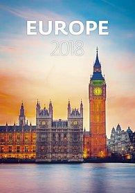 Kalendář nástěnný 2018 - Europe