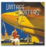 Kalendář 2015 - Plakáty cestování - nástěnný (GB, DE, FR, IT, ES, NL)