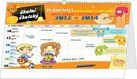 Kalendář 2014 - Školní plánovací s háčkem (srpen 2013 - červenec 2014) - nástěnný/stolní