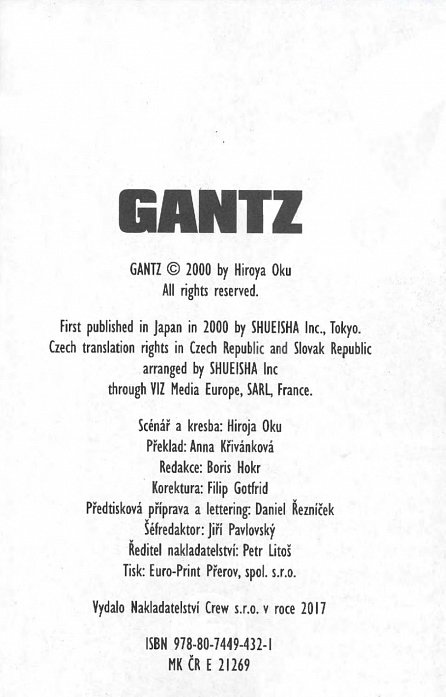 Náhled Gantz 16