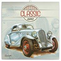 Kalendář poznámkový 2018 - Václav Zapadlík – Classic Cars, 30 x 30 cm