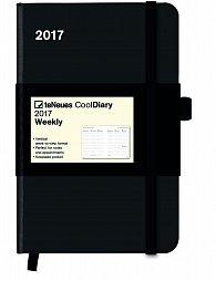 Diář Cool Diary Black/Black 2017 WEEKLY (9 x 14 cm)