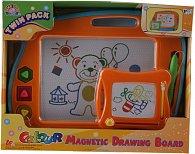 Dvojitá barevná magnetická kreslící tabulka