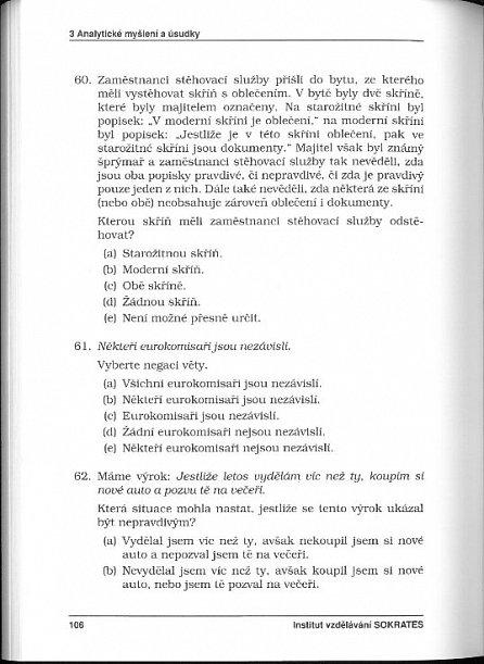 Náhled Testy obecných studijních předpokladů a základy logiky - 1. díl