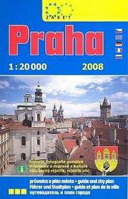 Praha knižní plán s průvodcem