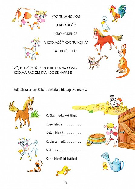 Náhled Se zvířátky za vrátky - Hrátky, říkanky, hádanky a vyprávěnky k rozvíjení řeči