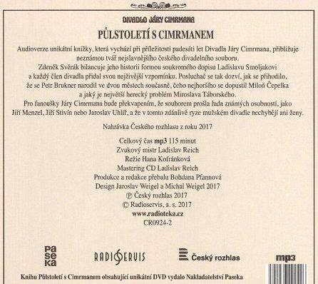 Náhled Půlstoletí s Cimrmanem - Legendární divadlo z odvrácené strany - CDmp3