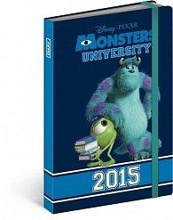 Diář 2015 - W. Disney Univerzita pro příšerky (CZ, SK, HU, GB)