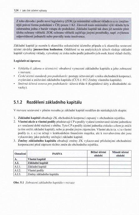 Náhled Jak číst účetní výkazy - Základy českého účetnictví a výkaznictví