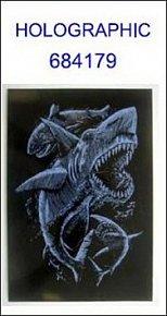 Škrabací obrázek A5 žraloci HOLOGRAPHIC