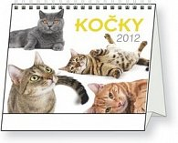 Kalendář stolní  2012 - Kočky, 16,5 x 13 cm