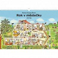 Kalendář nástěnný 2016 - Rok v městečku - Rotraut Susanne Berner - prodloužená verze