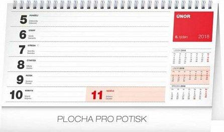 Náhled Kalendář stolní 2018 - Plánovací kalendář – se světovými a mezinárodními dny, 25 x 12,5 cm