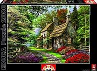 Puzzle Chalupa s karafiáty - Dominic Davison 2000 dílků