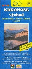 Krkonoše východ Lyžařská mapa
