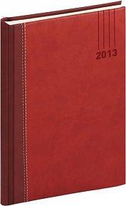 Diář 2013 - Splendor - Týdenní A5, vínovočervená, 15 x 21 cm