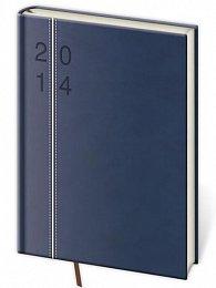 Diář 2014 - denní A5 Revue - modrá