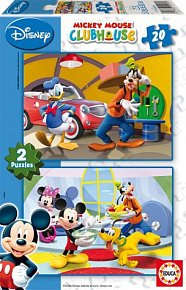 Puzzle Mickey Mouse, 2x20 dílků