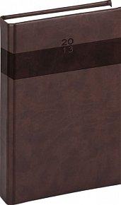 Diář 2013 - Aprint - Denní A5 Praktik, tmavě hnědá, 15 x 21 cm
