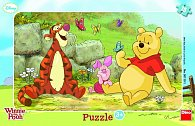 Medvídek Pú - rámové puzzle 15 dílků