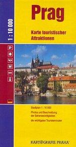 Prag Karte touristischer Attraktionen